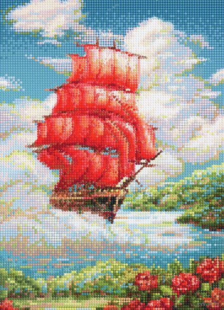 """Алмазная вышивка-мозаика """"Паруса мечты"""" (360х260 мм) — фото, картинка"""