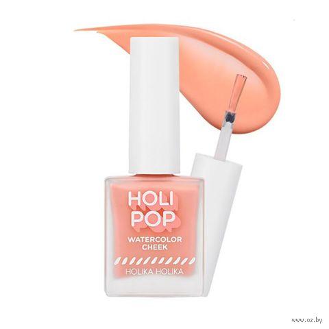 """Румяна жидкие """"Holi Pop. Watercolor Cheek"""" тон: CR03, персиковый — фото, картинка"""