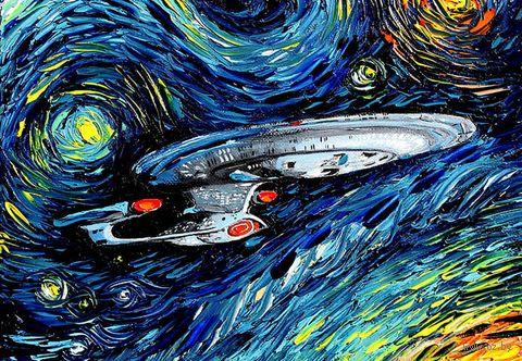 "Магнит на холодильник ""Star Trek. Ван Гог"" — фото, картинка"