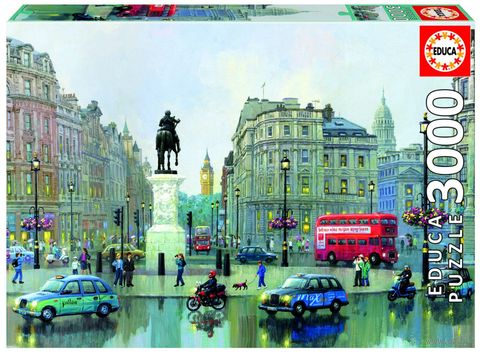"Пазл ""Чаринг Кросс в Лондоне. Александр Чен"" (3000 элементов) — фото, картинка"