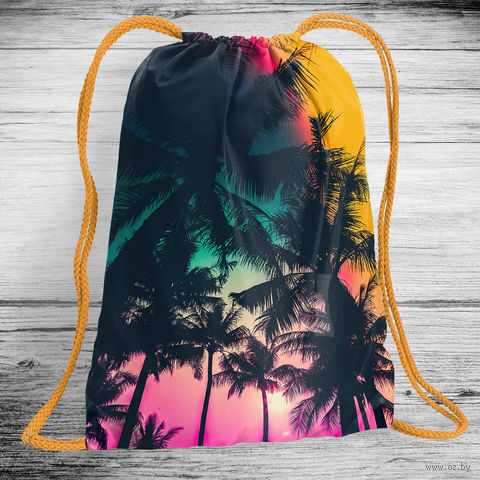 """Рюкзак-мешок """"Пальмы"""" (арт. 5) — фото, картинка"""