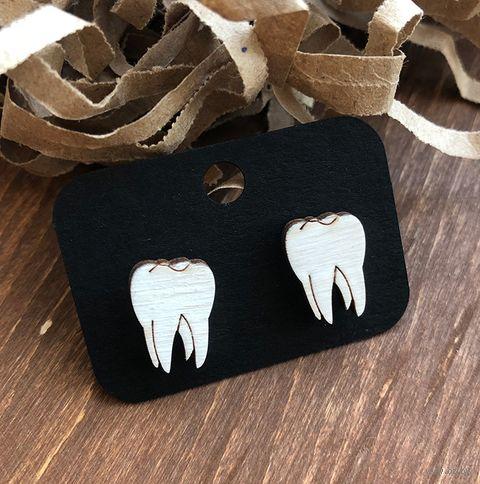 """Серьги """"Зубы"""" (арт. 040) — фото, картинка"""