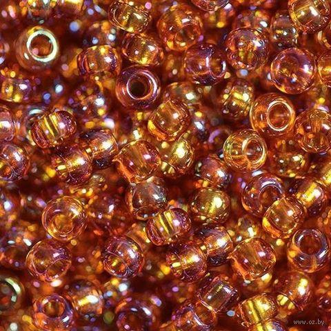 Бисер прозрачный №11090 (оранжевый; радужный; 10/0) — фото, картинка