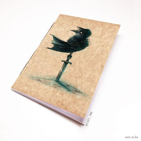 """Блокнот крафт """"Игра престолов. Ворон"""" (А7; арт. 961) — фото, картинка"""