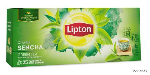 """Чай зеленый """"Lipton. Sencha"""" (25 пакетиков) — фото, картинка"""