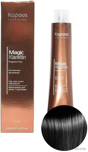 """Крем-краска для волос """"Non Ammonia"""" тон: 1.0, черный — фото, картинка"""