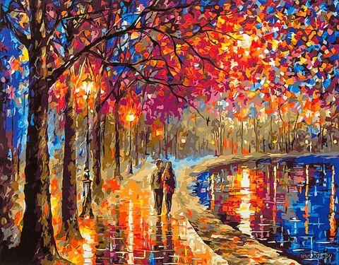 """Картина по номерам """"Прогулка под фонарями"""" (400х500 мм) — фото, картинка"""