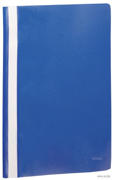 """Папка-скоросшиватель """"Esselte"""" (А4; темно-синяя) — фото, картинка"""