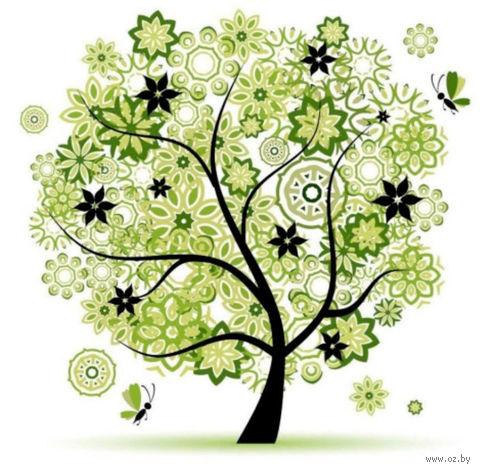 "Алмазная вышивка-мозаика ""Чудо дерево"" (500х500 мм) — фото, картинка"