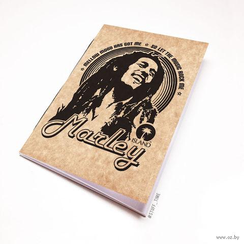 """Блокнот крафт """"Боб Марли"""" А5 (060)"""