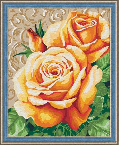 "Картина по номерам ""Чайные розы"" (400х500 мм) — фото, картинка"