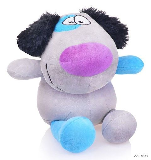 """Мягкая игрушка """"Пес Егорка"""" (25 см; серый) — фото, картинка"""