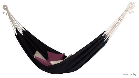 Гамак из натурального льна (чёрный) — фото, картинка