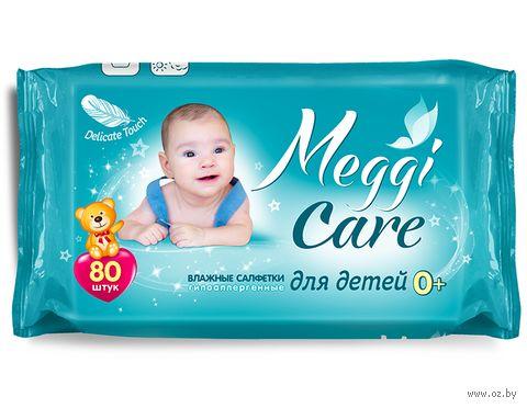"""Влажные салфетки детские """"Meggi Care"""" (80 шт.) — фото, картинка"""