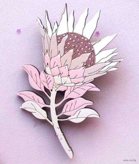 "Брошь ""Протея цветущая"" (арт. 161) — фото, картинка"
