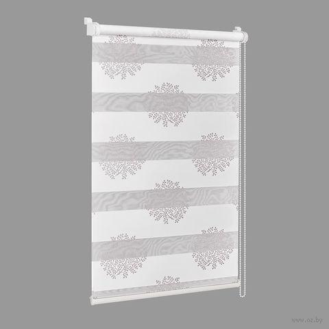 """Штора рулонная """"Сантайм. Декор"""" (48х160 см; крем-серебро) — фото, картинка"""