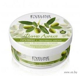 """Крем """"Оливки + протеины шелка, интенсивное питание"""" (210 мл)"""