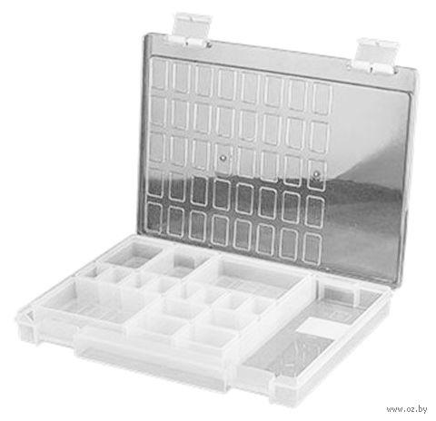 Органайзер для рукоделия (прозрачный; 17 отделений; арт. ОМ-176) — фото, картинка