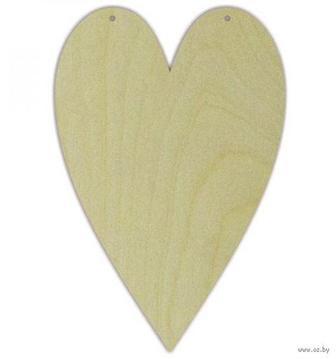 """Заготовка деревянная """"Сердце"""" (120х180 мм) — фото, картинка"""