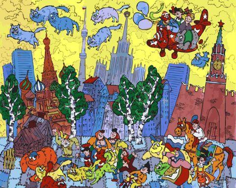 """Картина по номерам """"Московский вечер"""" (400х500 мм) — фото, картинка"""
