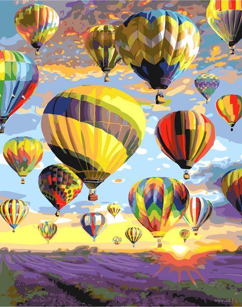"Картина по номерам ""Парад воздушных шаров"" (400х500 мм) — фото, картинка"