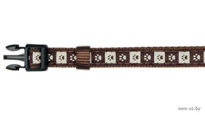 """Ошейник нейлоновый для собак """"Modern Art Collar Coffee"""" (размер S-M, 30-45 см, коричневый, арт. 15956)"""