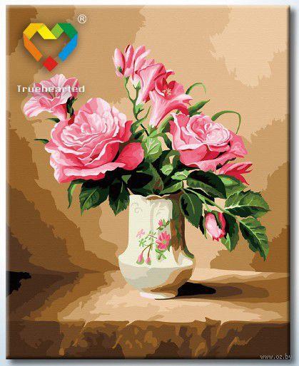 """Картина по номерам """"Розы в вазе"""" (400x500 мм; арт. HB4050106)"""