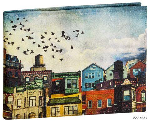 """Обложка для зачетной книжки """"Яркий город"""" — фото, картинка"""