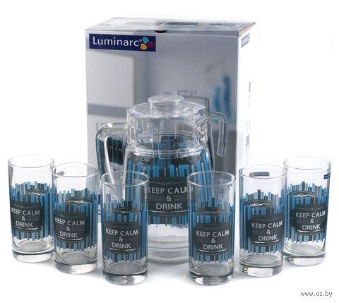 """Набор для питья """"Cool Blue"""" (7 предметов) — фото, картинка"""