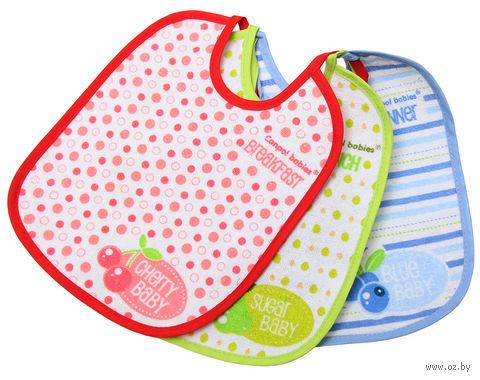 Набор хлопчатобумажных нагрудников с клеенчатой подкладкой (3 штуки)