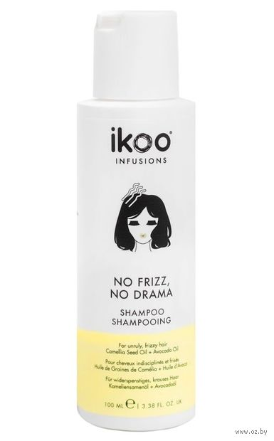 "Шампунь для волос ""Против пушистости. No Frizz, No Drama Shampoo"" (100 мл) — фото, картинка"