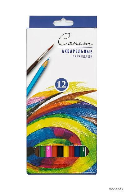 """Акварельные карандаши """"Сонет"""" (12 цветов)"""