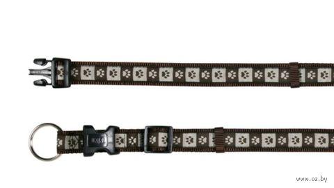 """Ошейник нейлоновый для собак """"Modern Art Collar Coffee"""" (размер M-L, 35-55 см, коричневый, арт. 15966)"""