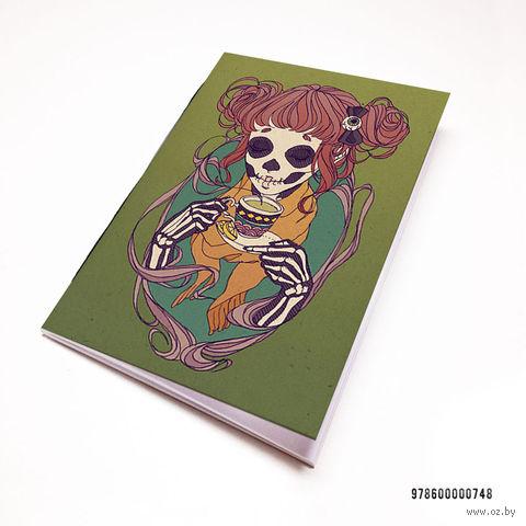 """Блокнот """"Девушка-скелет"""" (А7; арт. 748)"""