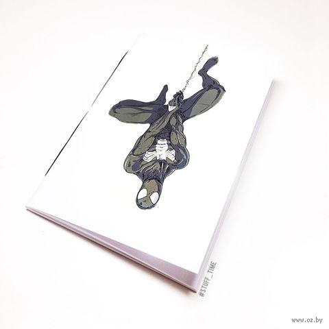 "Блокнот белый ""Человек-паук"" А5 (766)"
