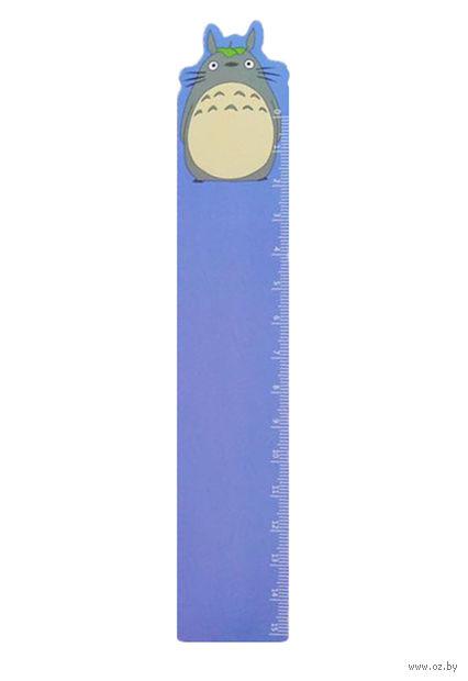 "Закладка-линейка ""Тоторо"" (35х180 мм; синяя) — фото, картинка"