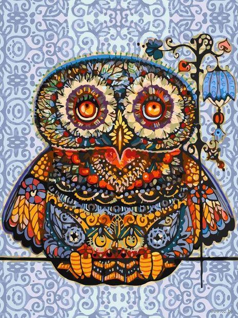 "Картина по номерам ""Волшебная сова"" (400х300 мм) — фото, картинка"
