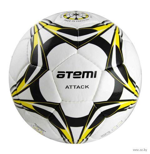 """Мяч футбольный Atemi """"Attack"""" №5 (бело-чёрно-жёлтый) — фото, картинка"""