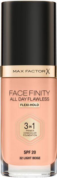 """Тональный крем 3в1 """"Facefinity All Day Flawless. Устойчивый"""" SPF 20 тон: 32 — фото, картинка"""