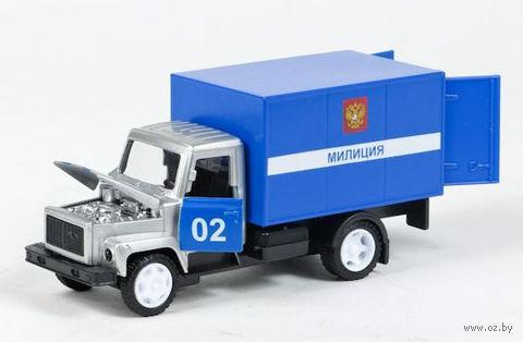 """Модель машины """"ГАЗ 3307. Милиция"""" (масштаб: 1/43)"""