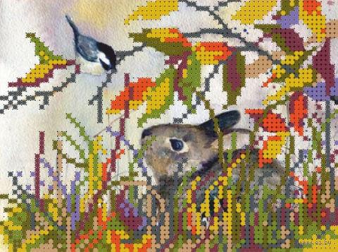 """Вышивка бисером """"В тени осенних листьев"""" (120х160 мм) — фото, картинка"""