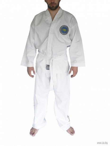 Кимоно для таэквондо ИТФ AX8 (р.40-42/155; белое; с шелкографией) — фото, картинка