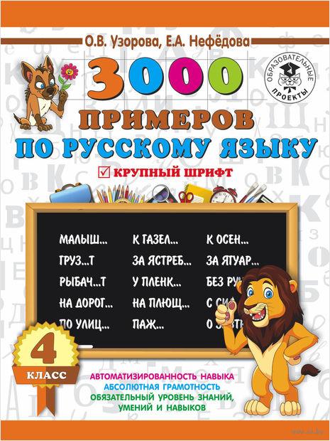 3000 примеров по русскому языку. Крупный шрифт. 4 класс — фото, картинка