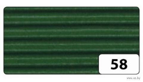 Картон гофрированный (темно-зеленый; 0,5х0,7 м)