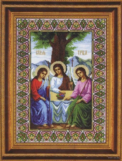 """Вышивка крестом """"Икона Пресвятой Троицы"""" (260x375 мм) — фото, картинка"""
