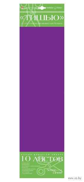 Бумага тишью (50х66 см; темно-фиолетовая; 10 шт.) — фото, картинка