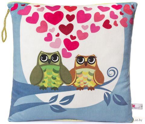 """Подушка """"Влюбленные совы"""" — фото, картинка"""