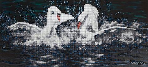 "Алмазная вышивка-мозаика ""Белые лебеди"" (245х530 мм) — фото, картинка"
