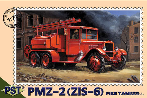 Пожарная машина ПМЗ-2 на базе ЗИС-6 (масштаб: 1/72) — фото, картинка