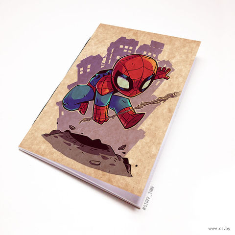 "Блокнот крафт ""Человек-паук"" А6 (898)"